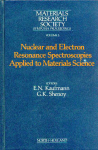 Nuclear and Electron Resonance Spectroscopies Applied to Materials Science