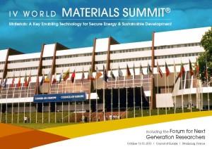 Fourth World Materials Summit, Strasbourg,France, October 2013
